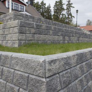 Norblokk Dekorativ Gråmix mur forstøtningsmur Støttemur