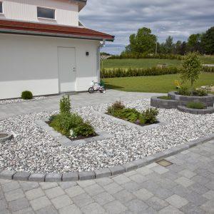 Sjøsingel Svart/Hvitmix Dekorstein