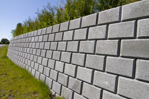 Norblokk Miniblokk Grå Mur Forstøtningsmur Støttemur