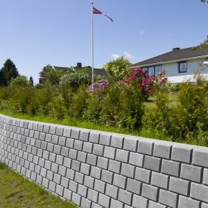 Støttemur, Forstøtningsmur, Mur, Betongstein