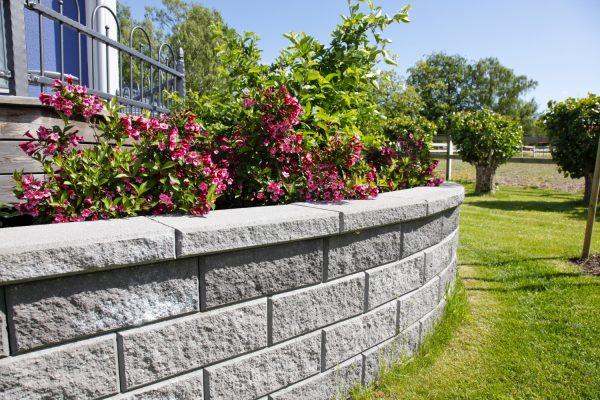 Megawall Grå mur forstøtningsmur Støttemur