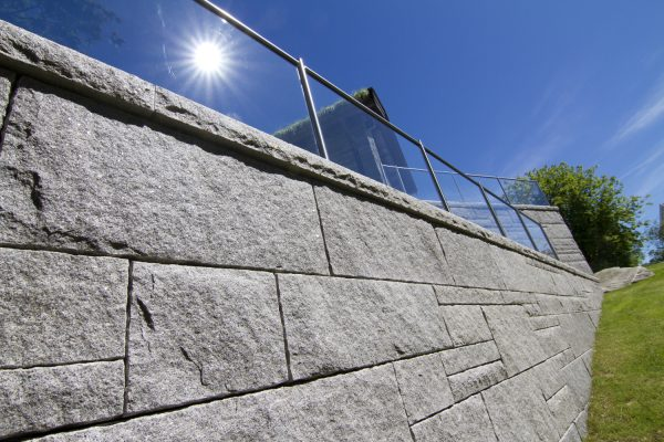 Bohusgranitt Forstøtningsmur Granitt Mur Støttemur naturstein