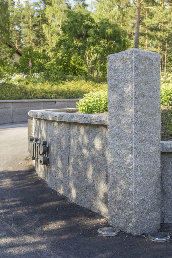 Bohusgranitt Blokkstensmur Granitt mur Støttemur naturstein
