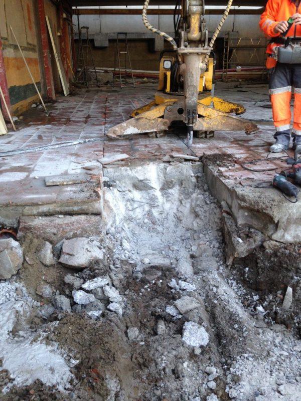 Riving av betong, riving