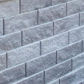 Megastone Retthugget Grafitt mur Støttemur Betongstein